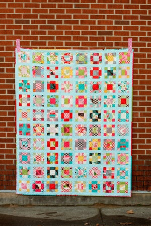 Image of Vintage Nine-Patch Quilt PAPER Pattern