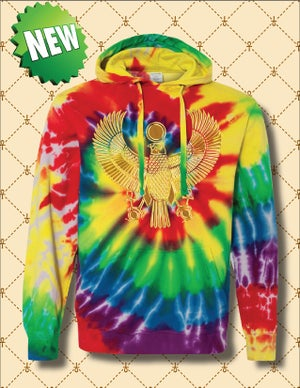 Image of Men's & Women's Gold Heru Spiral Tie Dye Hoodie