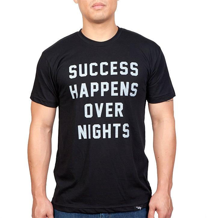 Image of Success Happens Over Nights Tee (Black)