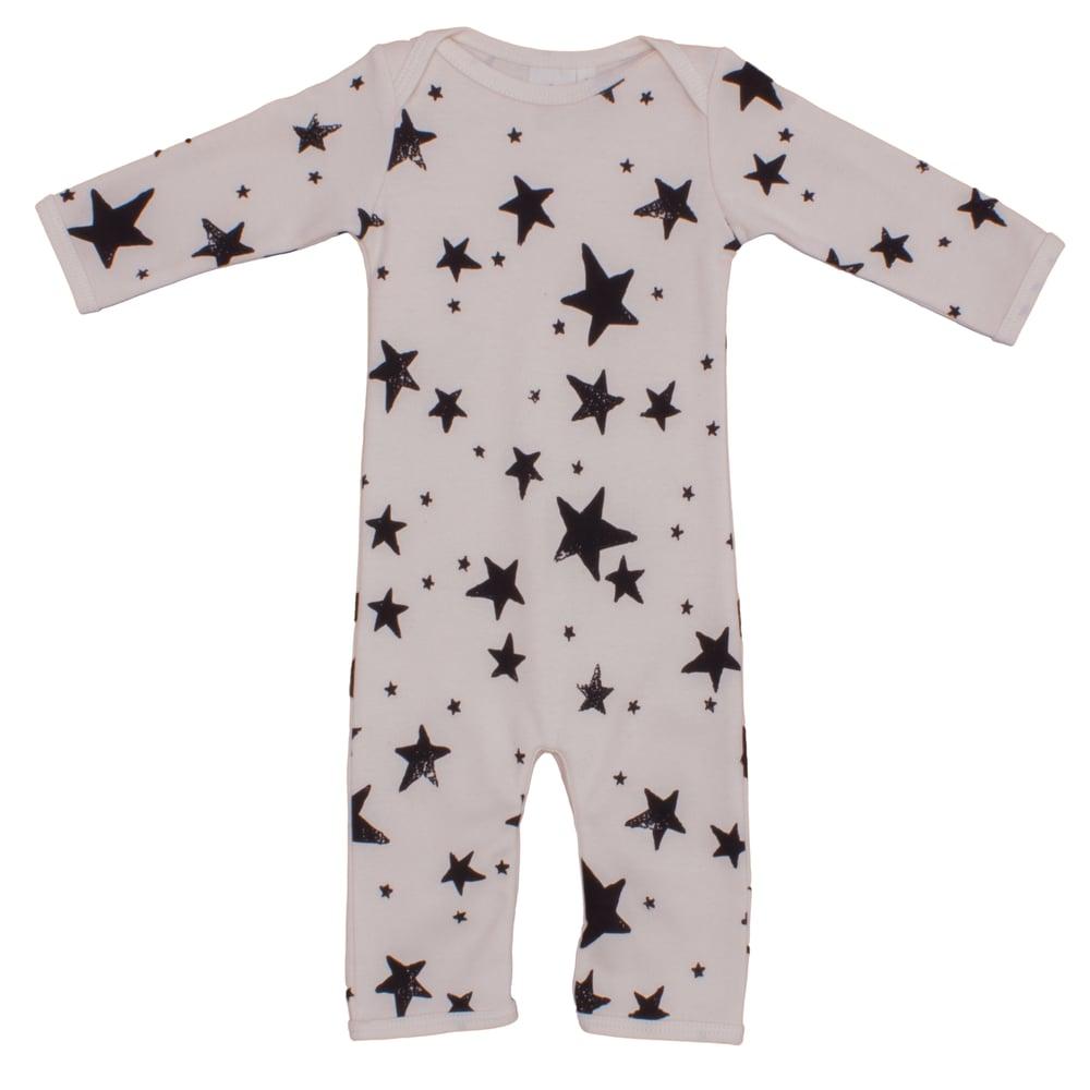 Image of Jumpsuit bébé garçon Noé&Zoé à étoiles noires