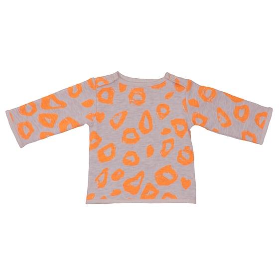 Image of Sweat-shirt bébé garçon Noé&Zoé léopard orange
