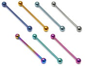 Image of Solid Titanium G23 Piercing Barbell & Scaffolds