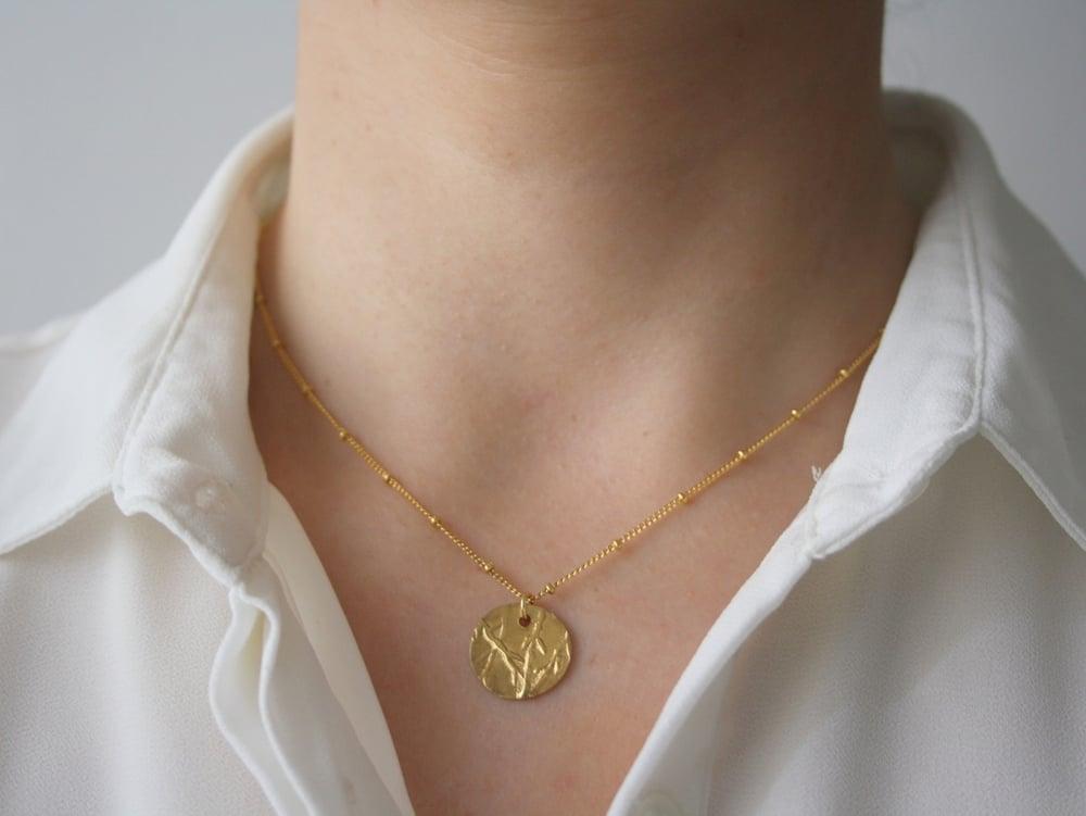 Image of Bambu necklace Gold filled