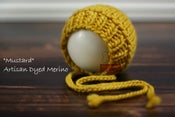 "Image of Ribbed Knit Bonnet - ""Mustard"""