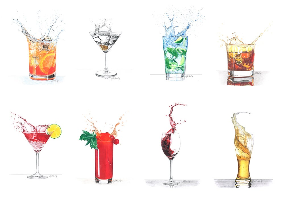 "Image of ""Drink Collection"" - Original Artworks"