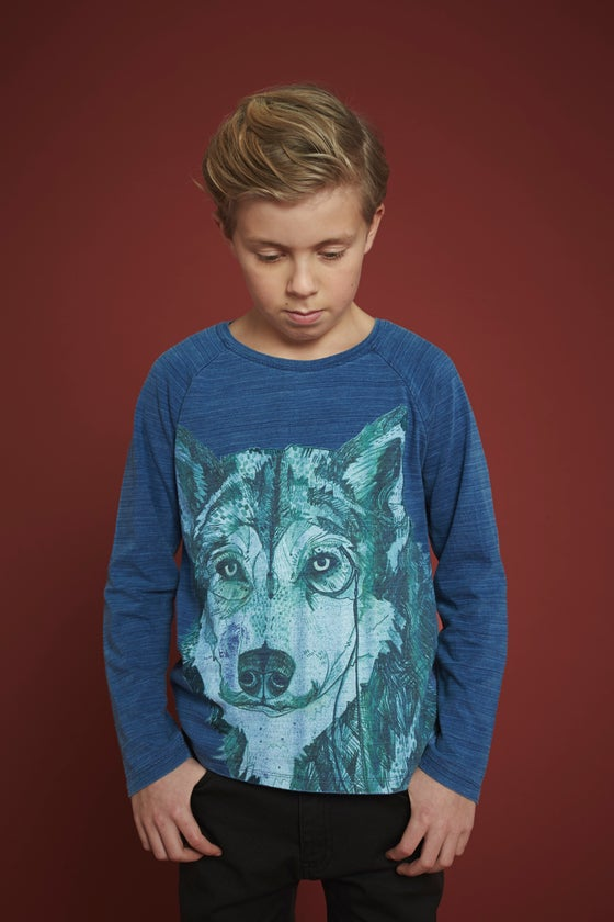"Image of Tshirt manches longues garçon Soft Gallery ""Viggo Wolf"""