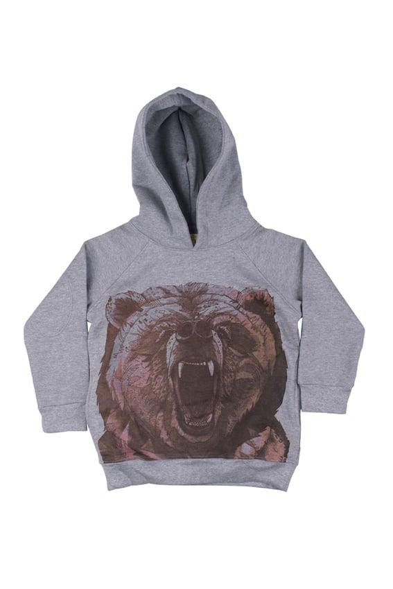 "Image of Sweat-shirt à capuche garçon Soft Gallery ""Siggi Grizzly"""
