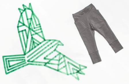 """Image of Jogger bébé garçon Gugguu """"Tricot Pants"""" gris anthracite"""