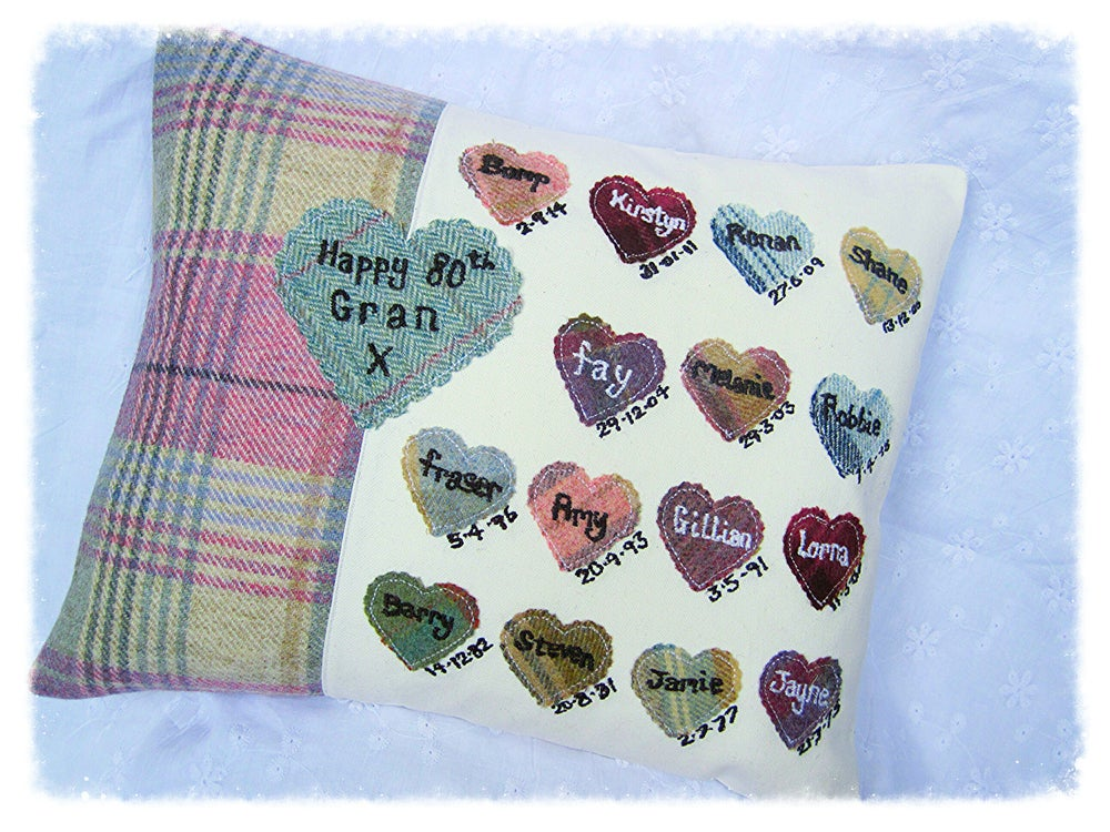 Image of Personalised Heart and Handprint Cushions