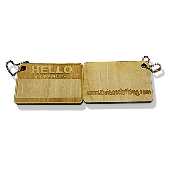 Image of WOOD KEY CHAIN/CANVAS