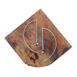 Image of Minimalist Arc Earrings (MORE COLORS AVAILABLE)