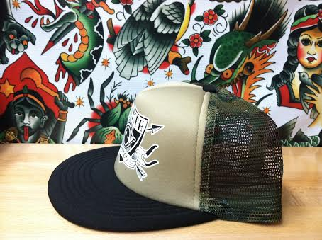Image of Camo Trucker Hat//Eye Shield