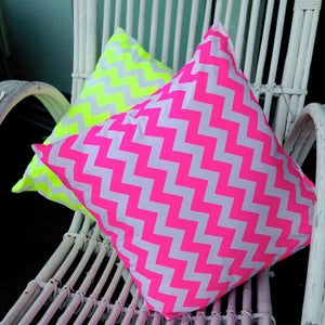 Image of Neon Chevron Scatter Cushions