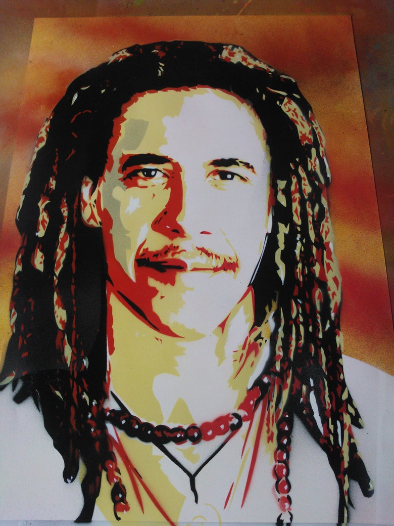 "Image of ""JAH BAMA"" (world peace)"