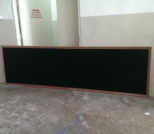 320cm by 93cm Wall Mounted Chalkboard with Corrugated Border
