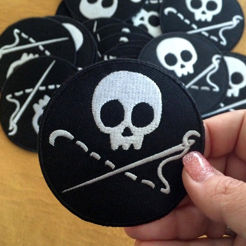 Sewing Skull Merit Badge / Patch
