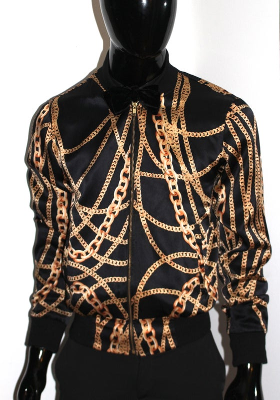Image of Black Royalty Silk Jacket
