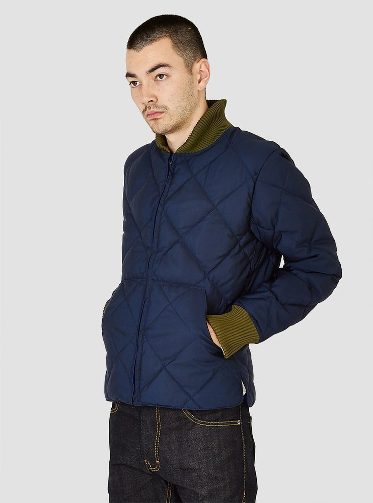 Image of Crescent Down Works Quilted Jacket Navy