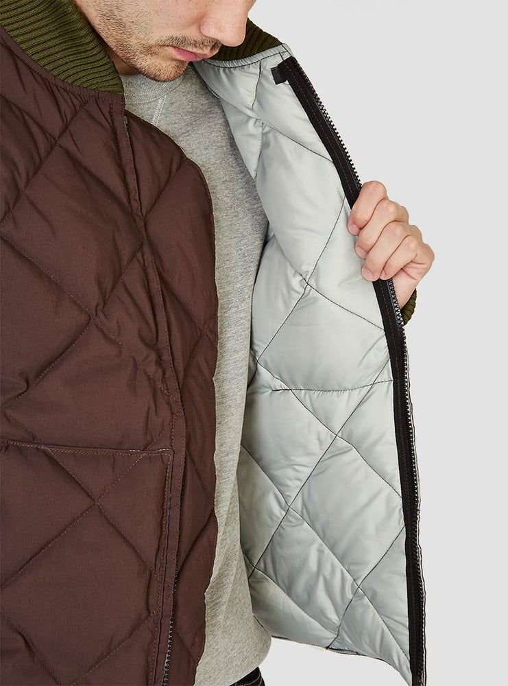 Image of Crescent Down Works Quilted Jacket Brown