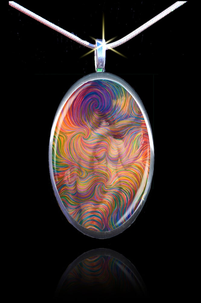 Image of Leaning Lovers - Soulmate Energy Pendant