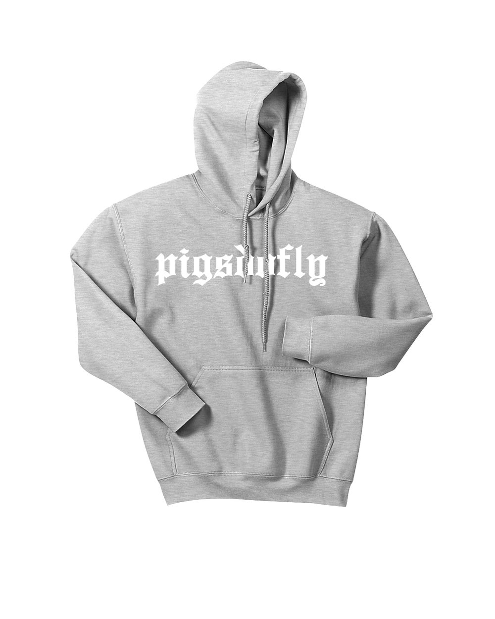 "Image of ""PIGSDOFLY OE"" SPORTS GREY/KIDS HOODY"
