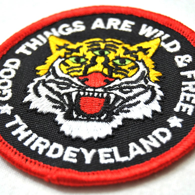 Image of THIRDEYELAND - TIGER PATCH - LIMITED TO 100 PIECES