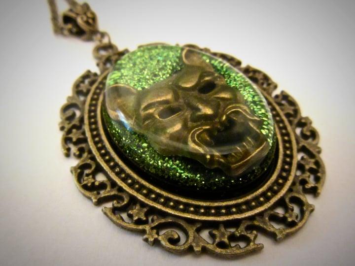 Demon Glitter Green Pendant