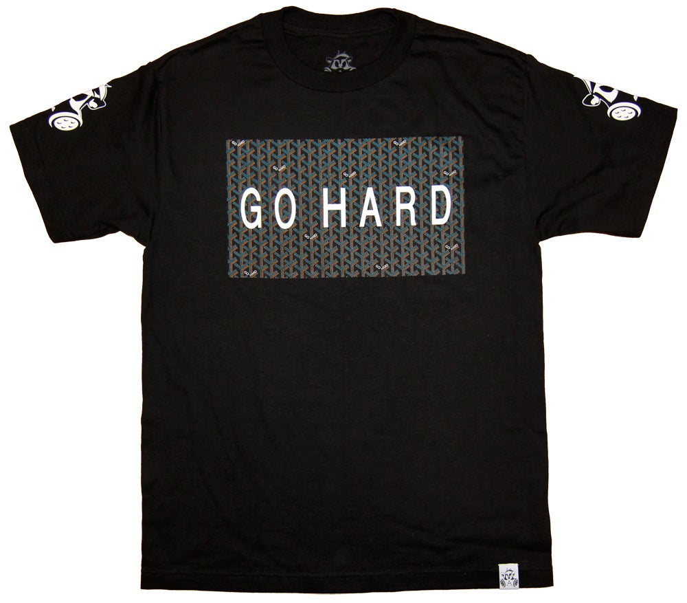 Image of GO HARD TEE | BLACK