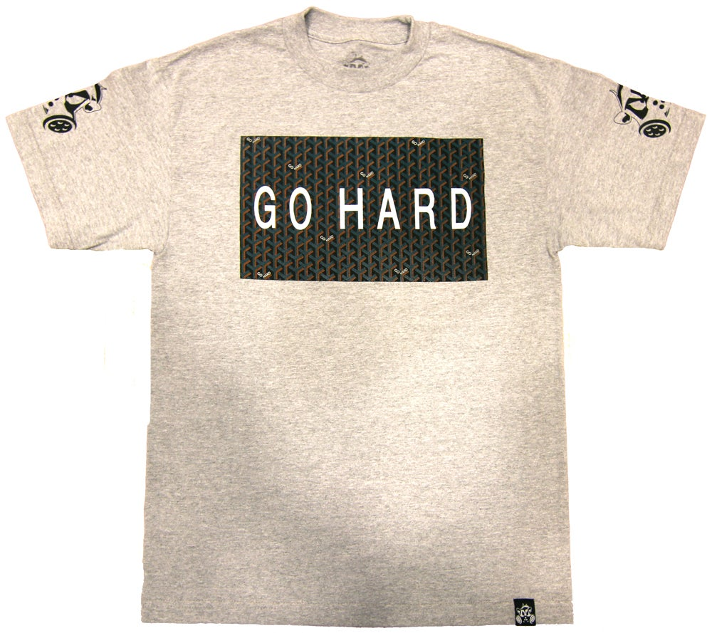 Image of GO HARD TEE | HEATHER GREY
