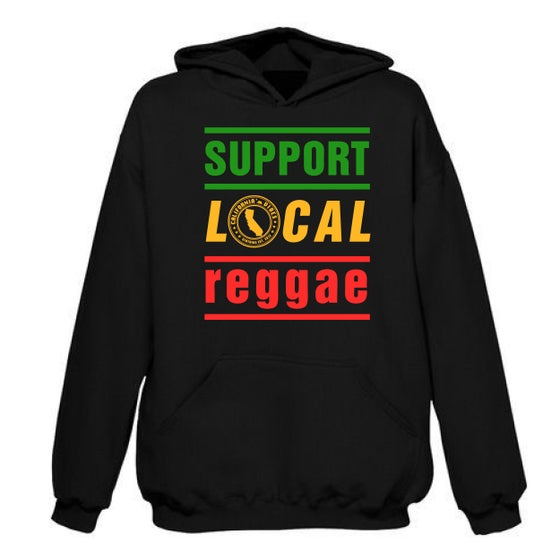 Image of ***ON SALE*** SUPPORT LOCAL REGGAE CLASSIC HOODIE