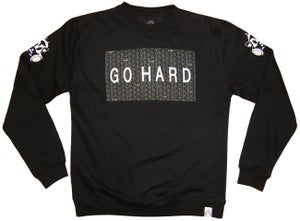Image of GO HARD CREW SWEATSHIRT | BLACK