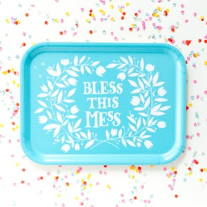 "Image of ""Bless this mess"" breakfast tray"