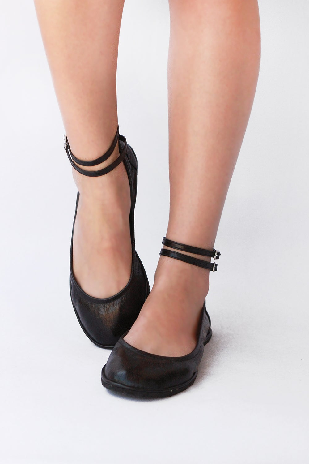 Image of Ballet flats - Two ankle straps