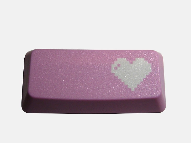 Image of 8-bit Heart Enter Keycap[Pink Edition]