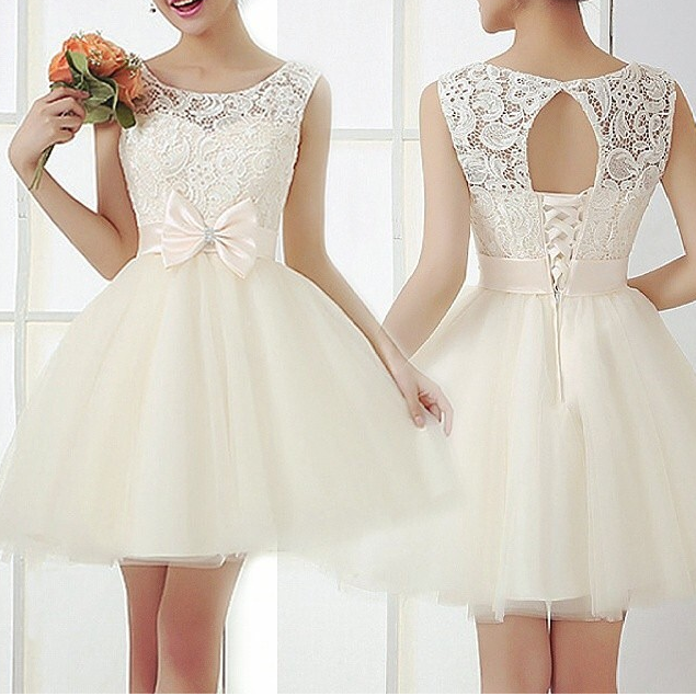 Image of Fashion lace bow hot dress  HIGH QUALITY LOWEST PRICE