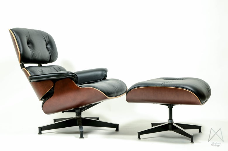 Image of Charles and Ray Eames 670 671 Lounge Chair Ottoman Cherry New Europe Herman Miller