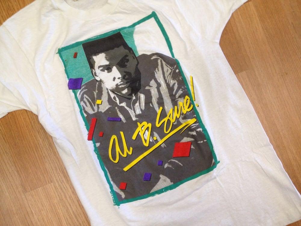 Image of Vintage Deadstock Al B. Sure 80'v R & B Screen Stars T Shirt