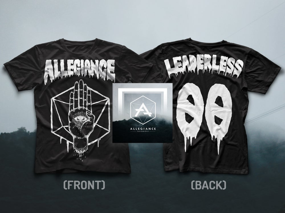 "Image of ALLEGIANCE ""LEADERLESS"" TEE + ""THE DARK HALF"" EP EXCLUSIVE BUNDLE"