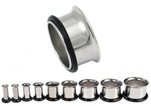 Image of Surgical Steel Single Flare Ear Tunnels & Tunnel Kits