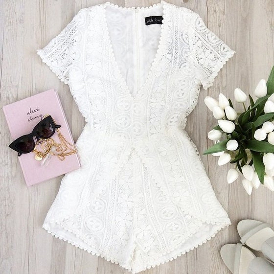 Image of Laced Up Romper