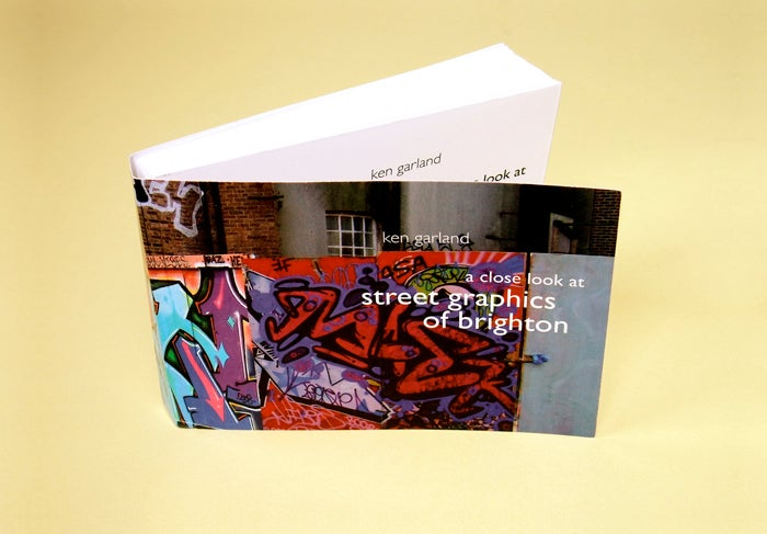 Image of a close look at street graphics of brighton