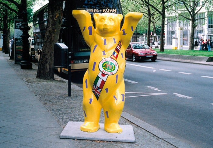 Image of a close look at the buddy bears of berlin