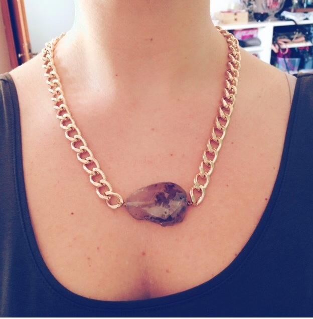 Image of Cuore di pietra necklace