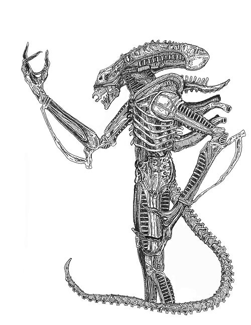 Image of 'XENOMORPH - B&W' Print