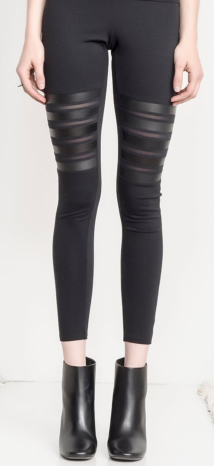 Image of Brace Leather/Mesh Legging