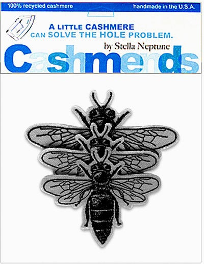 Image of Iron-On Cashmere Bees - Medium Gray