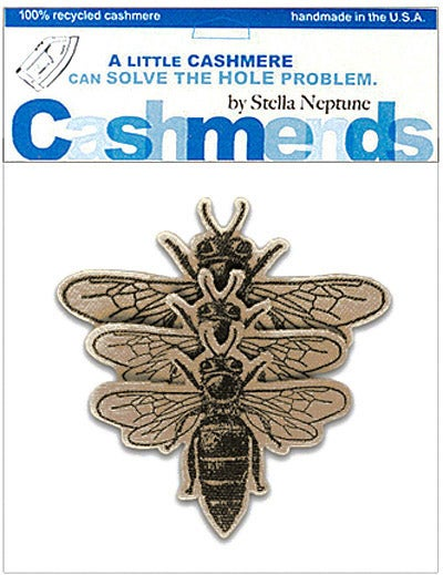 Image of Iron-On Cashmere Bees - Camel