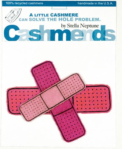 Image of Iron-on Cashmere Band-Aids - Triple Pink