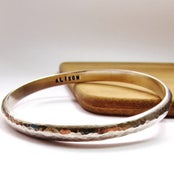 Image of Personalised Heavy Silver Bangle