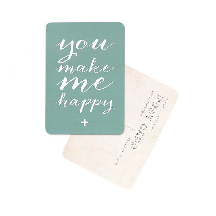"Image of Carte Postale""YOU MAKE ME HAPPY"